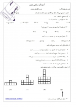آزمون ریاضی فصل اول الگوهای عددی پایه ششم(در قالب PDF)